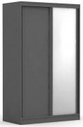 Dvojdverová šatníková skriňa REA Atlanta 1 - graphite