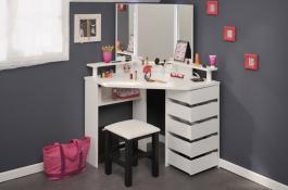 Toaletný stolík Ringo - biela/čierna