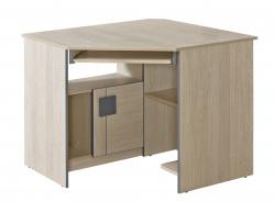 Rohový PC stôl Loki - dub santana/popol