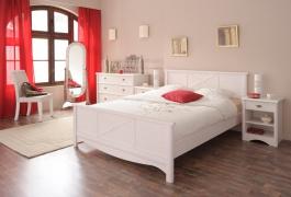 Študentská posteľ Marion 140x200cm - transparentne biela