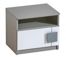 Nočný stolík Loki - biela/antracit