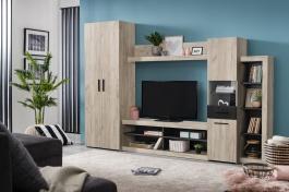 Obývacia stena Jade - dub sivý/dub čierny