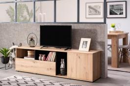 Televízny stolík Dustin - dub artisan/čierna