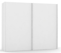 Široká šatníková skriňa REA Houston up 3 - biela