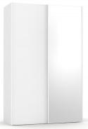 Šatníková skriňa so zrkadlom REA Houston 4 - biela