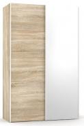 Šatníková skriňa so zrkadlom REA Houston 4 - dub bardolino