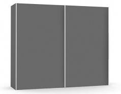 Široká šatníková skriňa REA Houston up 3 - graphite