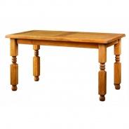 Jedálenský sedliacky rustikálny stôl masív MES 01 B - 100x200cm - výber morenia