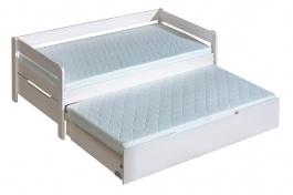 Detská posteľ z masívu 90x200cm Tibor s prístelkou - výber morenia