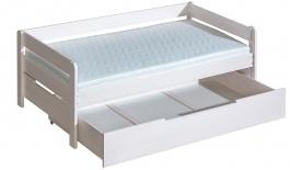 Detská posteľ z masívu 90x200cm Tibor so zásuvkou - výber morenia