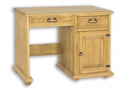 Písací stôl z masívu BIK 01 sedliacky - výber morenia