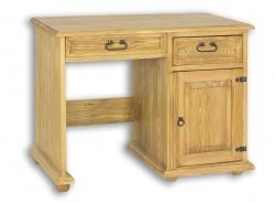 Písací stôl z masívu BIK 01A sedliacky - výber morenia