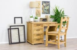 Písací stôl drevený sedliacky BIK 02 - výber morenia