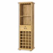 Regál z masívneho dreva na víno a poháre VIT 14 - výber morenia