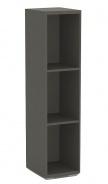 Úzky regál REA Store 30x124cm - graphite