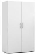 Dvojdverová šatníková skríňa REA Catania 1 - biela