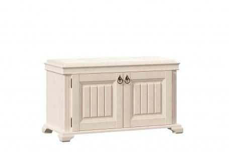Polstrovaná lavica s úložným priestorom Annie - dub provence biela