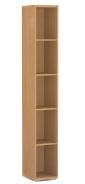 Úzky regál REA Store 30x200cm - buk