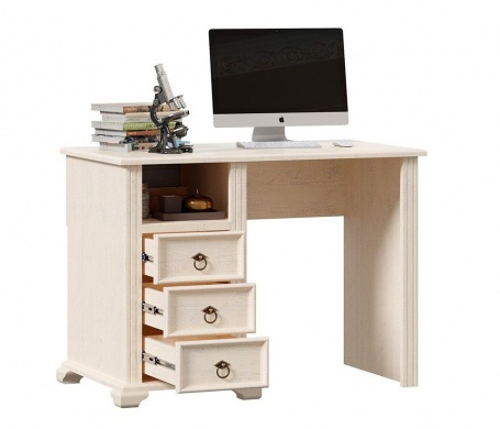 Písací stôl Annie - dub provence biela