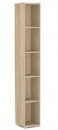 Úzky regál REA Store 30x200cm - dub bardolino