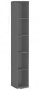 Úzky regál REA Store 30x200cm - graphite