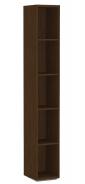 Úzky regál REA Store 30x200cm - wenge