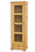 Vitrína z masívneho dreva VIT 16 sedliacka - výber morenia