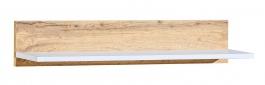 Závesná polica Liana 80cm - biela/dub wotan