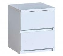 Zásuvkový nočný stolík Liana - biela