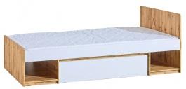 Detská posteľ 90x195cm so zásuvkou Liana - biela/dub wotan