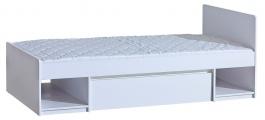 Detská posteľ 90x195cm so zásuvkou Liana - biela