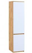 Jednodverová šatníková skriňa Liana - biela/dub wotan