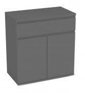 Kombinovaná komoda REA Amy 5 - graphite