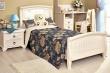 Detská posteľ 90x200cm s čalúneným čelom Annie - dub provence