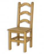 Jedálenská stolička z masívu SIL 01 sedliacka - výber morenia