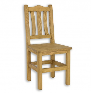 Stolička z masívneho dreva SIL 05 sedliacka - výber morenia