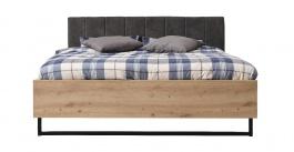 Manželská posteľ Nathan 180x200cm - dub artisan/čierna