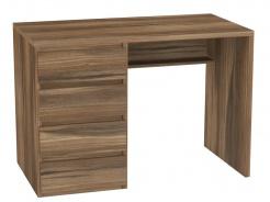 Písací stôl REA Play 2, ľavý - orech rockpile