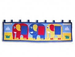 Vreckár za posteľ slony 195x55cm