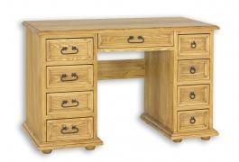 Písací stôl z masívu BIK 04A sedliacky - výber morenia