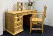 Písací stôl z masívu BIK 03A - výber morenia