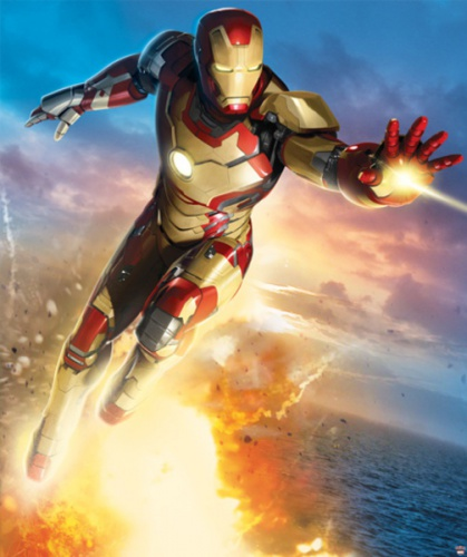 Dětská tapeta na zeď 8-dilná - Iron Man