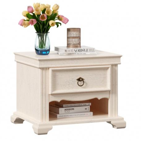 Nočný stolík so zásuvkou Annie - dub provence biela