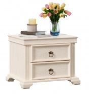 Nočný stolík so zásuvkami Annie - dub provence biela
