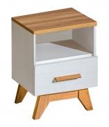 Nočný stolík so zásuvkou Olaf - borovica andersen/dub nash