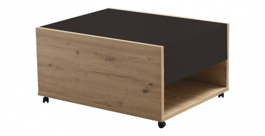 Konferenčný stolík Embra - dub artisan/čierny lesk