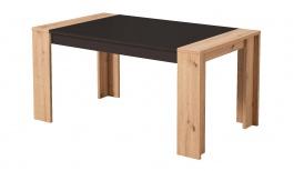Jedálenský stôl Embra - dub artisan/biely lesk