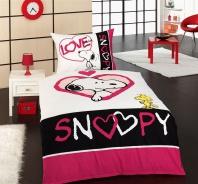 Detské obliečky Snoopy love 140x200cm - bavlna