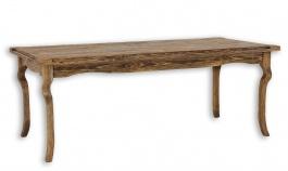 Drevený stôl 90x160 rustikálny LUD 01-výber morenia