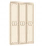 Trojdverová skriňa Elizabeth s plnými dverami a ozdobnými lištami - béžová